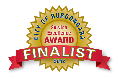 Inspire Fitness - Service Excellence Award Finalist 2012, City of Boroondara
