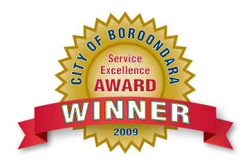 Inspire Fitness - Service Excellence Award Winner 2009, City of Boroondara